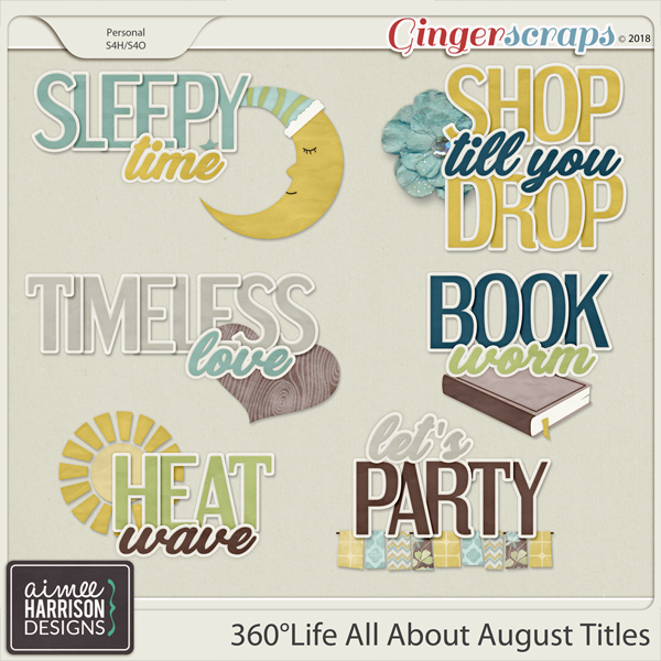 360°Life All About August Titles by Aimee Harrison