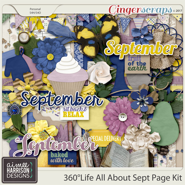 360°Life All About September Page Kit by Aimee Harrison
