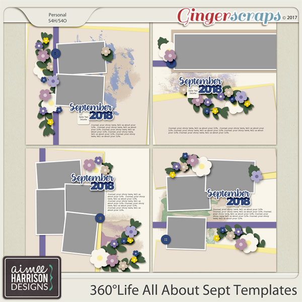 360°Life All About September Templates by Aimee Harrison