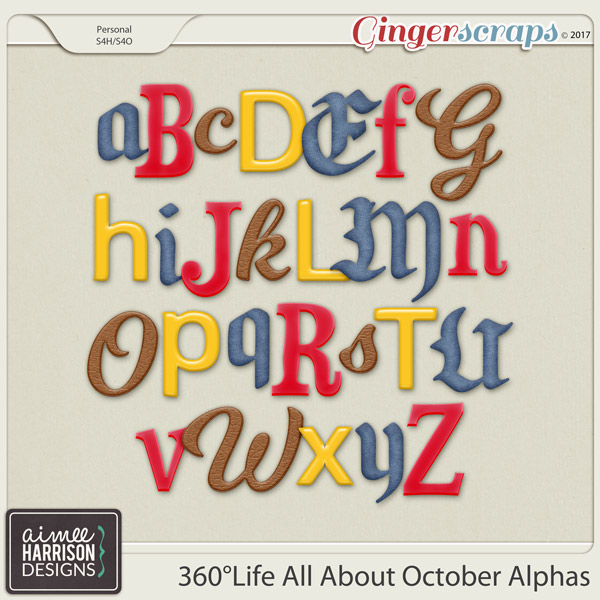 360°Life All About October Alpha Sets by Aimee Harrison