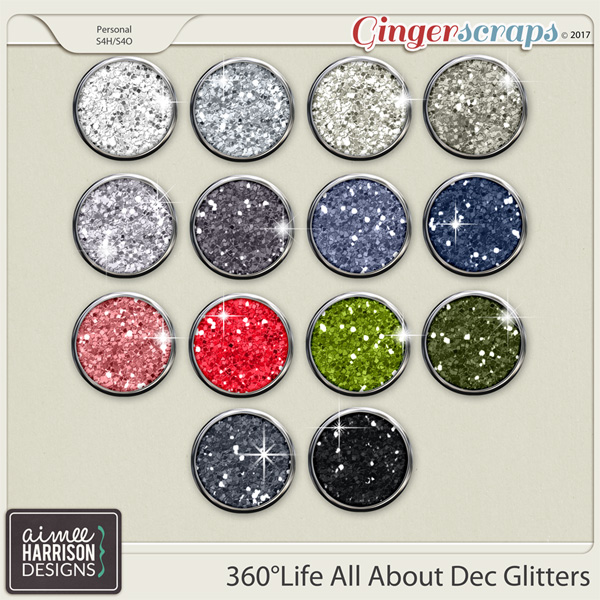 360°Life All About December Glitters by Aimee Harrison