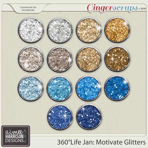 360°Life Jan: Motivate Glitters by Aimee Harrison