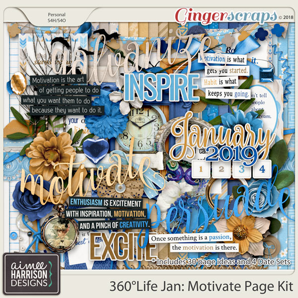 360°Life Jan: Motivate Page Kit by Aimee Harrison