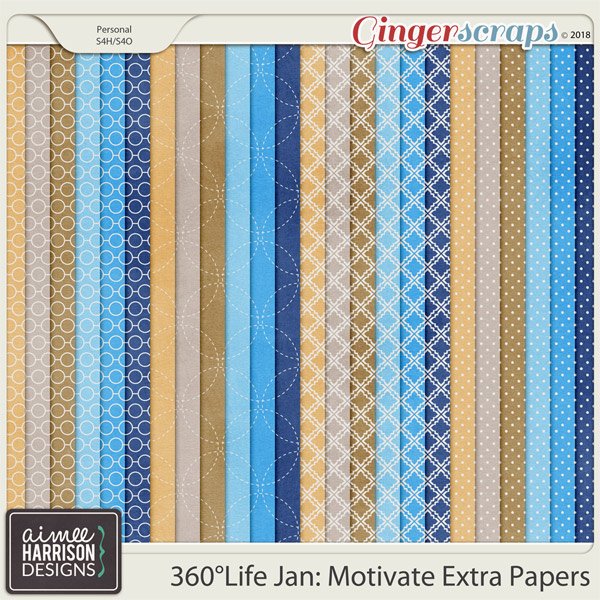 360°Life Jan: Motivate Extra Papers by Aimee Harrison