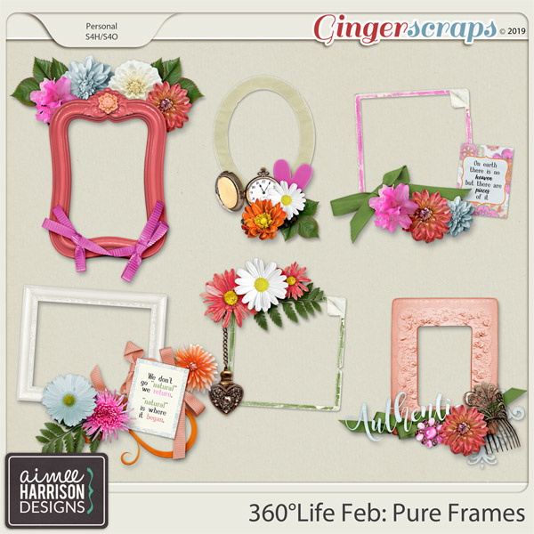 360°Life Feb: Pure Frame Clusters by Aimee Harrison