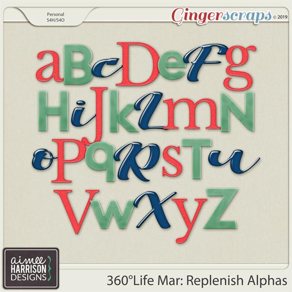 360°Life Mar: Replenish Alpha Sets by Aimee Harrison