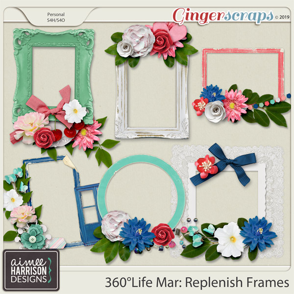360°Life Mar: Replenish Frame Clusters by Aimee Harrison