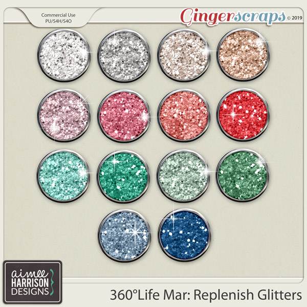360°Life Mar: Replenish Glitters by Aimee Harrison