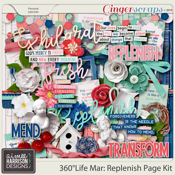 360°Life Mar: Replenish Page Kit by Aimee Harrison