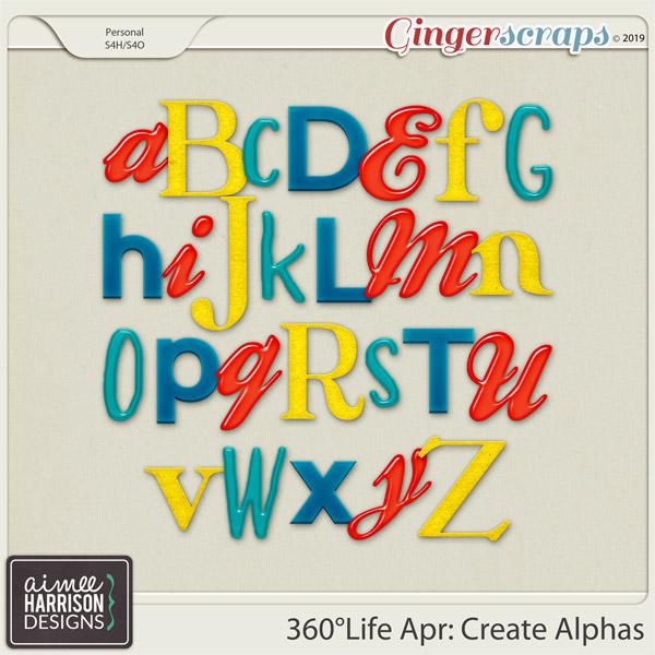 360°Life Apr: Create Alpha Sets by Aimee Harrison