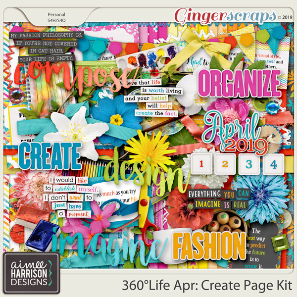 360°Life Apr: Create Page Kit by Aimee Harrison