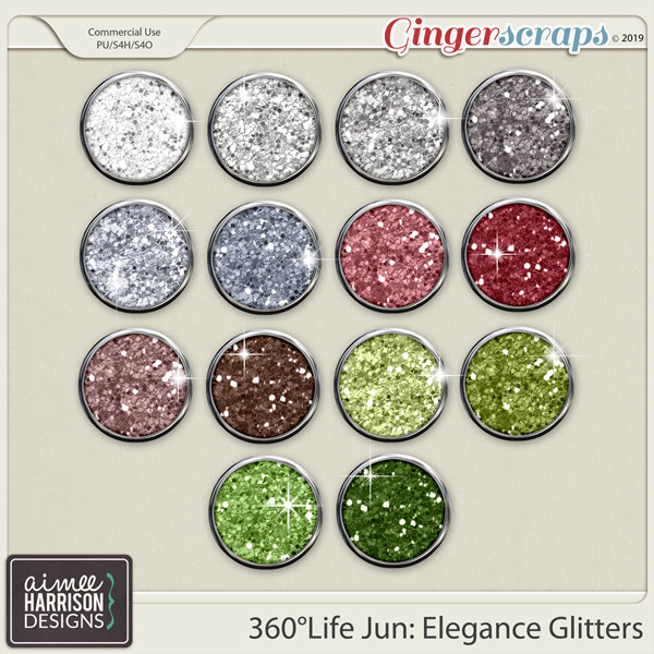 360°Life June: Elegance Glitters by Aimee Harrison