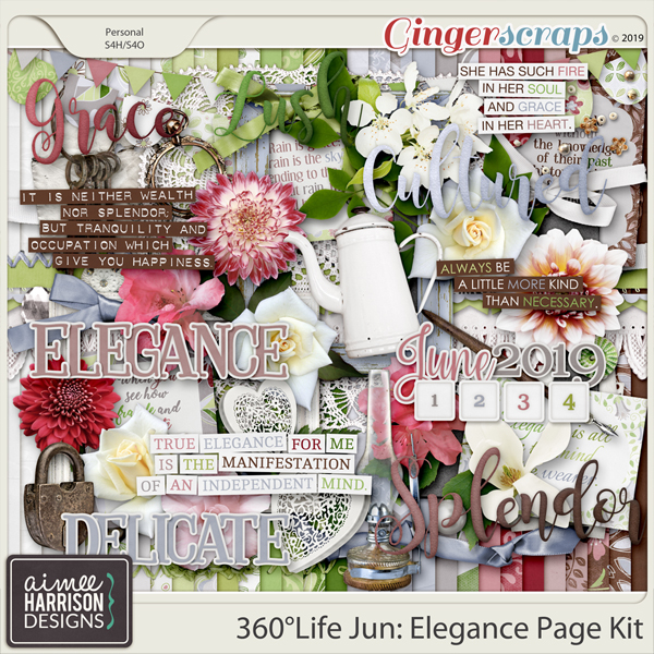 360°Life June: Elegance Page Kit by Aimee Harrison