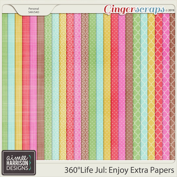 360°Life July: Enjoy Extra Papers by Aimee Harrison