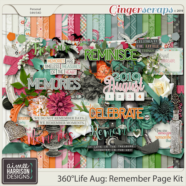 360°Life Aug: Remember Page Kit by Aimee Harrison
