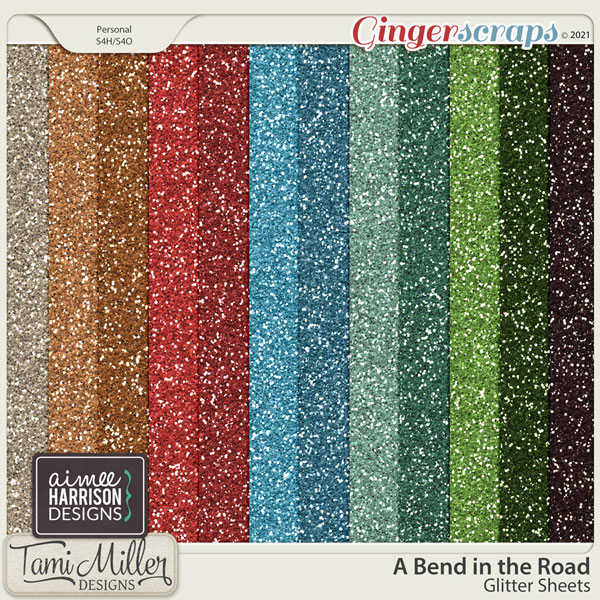 A Bend in the Road Glitter Sheets by Tami Miller and Aimee Harrison