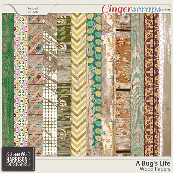 A Bug's Life Wood Papers by Aimee Harrison