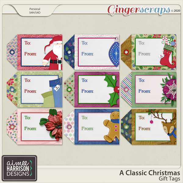 A Classic Christmas Gift Tags by Aimee Harrison