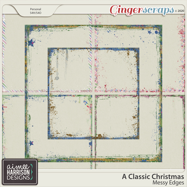 A Classic Christmas Messy Edges by Aimee Harrison