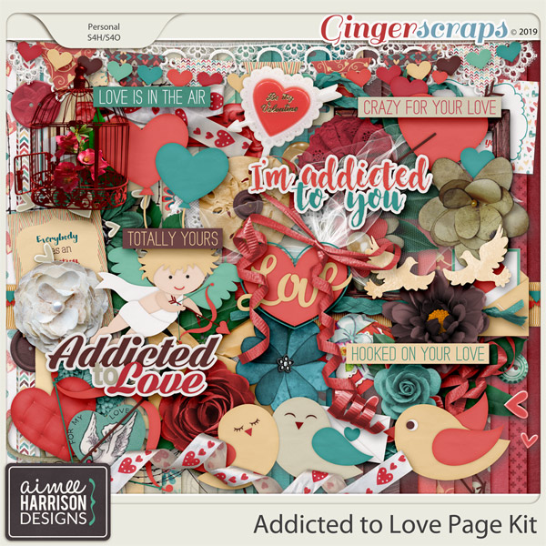 Addicted to Love Page Kit by Aimee Harrison