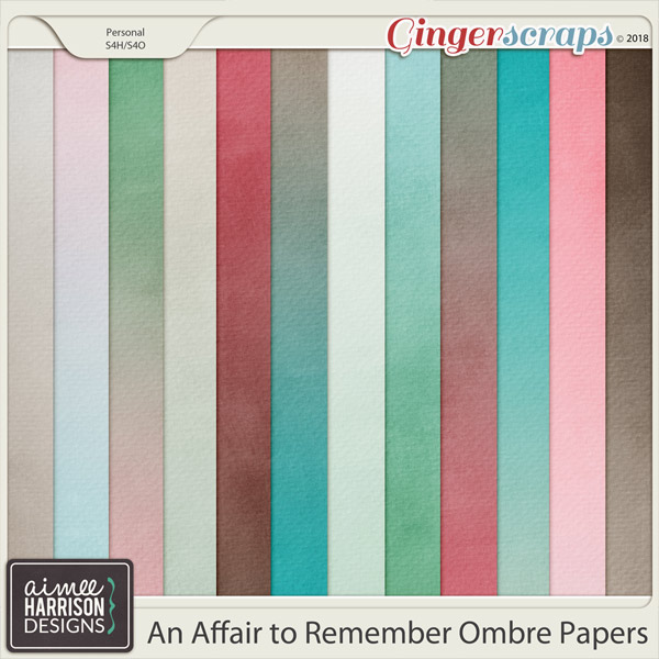 An Affair to Remember Ombre Papers by Aimee Harrison