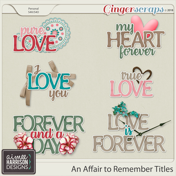 An Affair to Remember Titles by Aimee Harrison