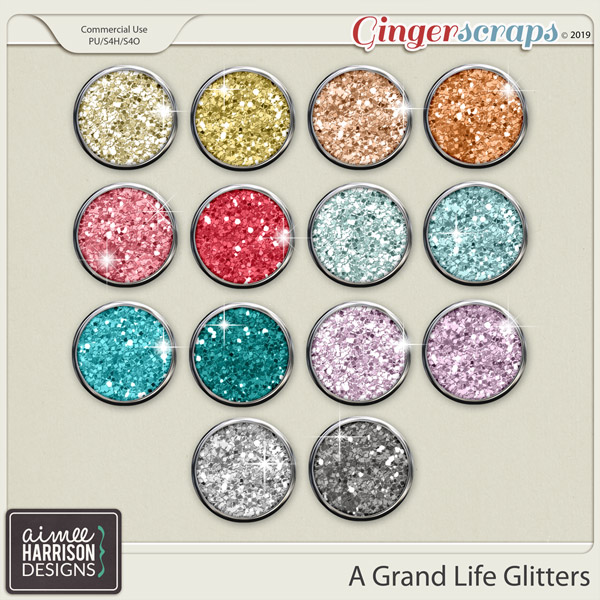 A Grand Life Glitters by Aimee Harrison