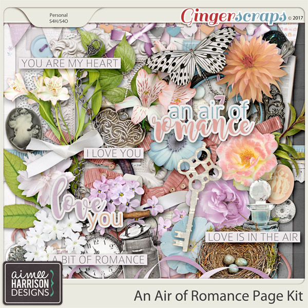 An Air of Romance Page Kit by Aimee Harrison