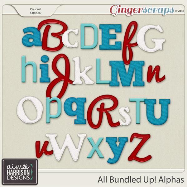 All Bundled Up Alpha Sets by Aimee Harrison
