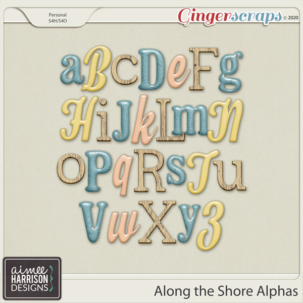 Along the Shore Alpha Sets by Aimee Harrison