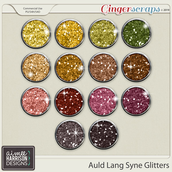 Auld Lang Syne Glitters by Aimee Harrison