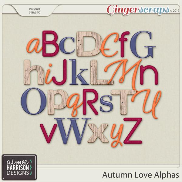 Autumn Love Alpha Sets by Aimee Harrison