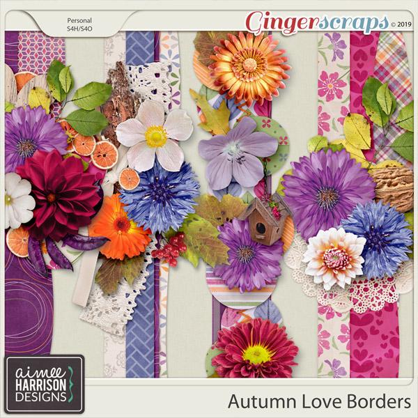 Autumn Love Borders by Aimee Harrison