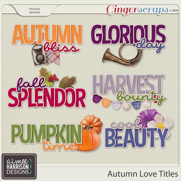 Autumn Love Titles by Aimee Harrison