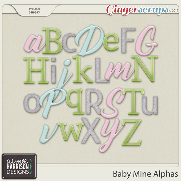 Baby Mine Alpha Sets by Aimee Harrison