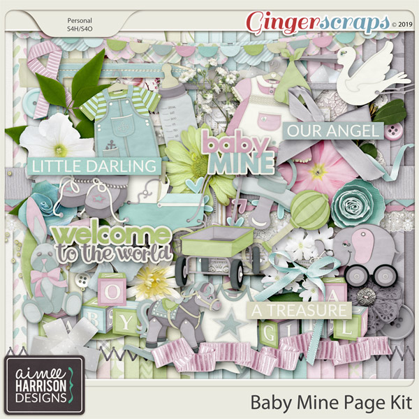 Baby Mine Page Kit by Aimee Harrison
