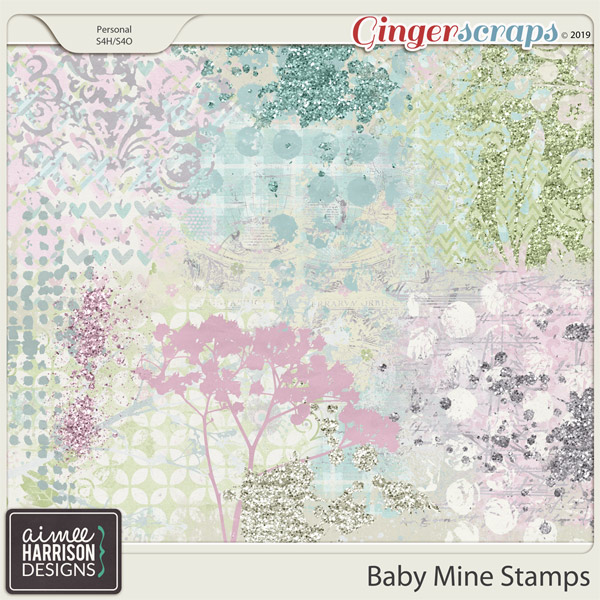 Baby Mine Stamps by Aimee Harrison
