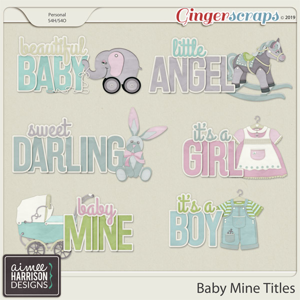 Baby Mine Titles by Aimee Harrison