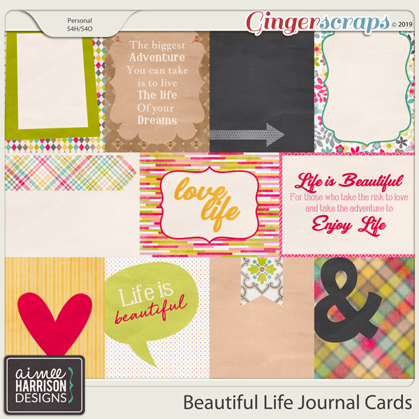 Beautiful Life Journal Cards by Aimee Harrison