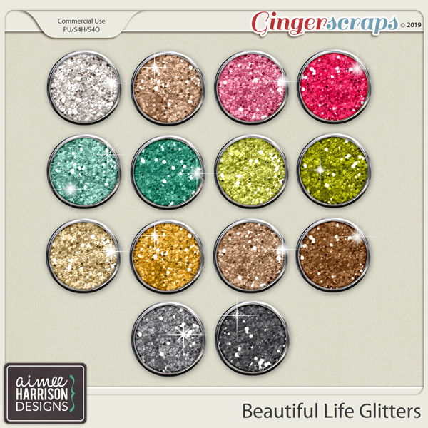 Beautiful Life Glitters by Aimee Harrison