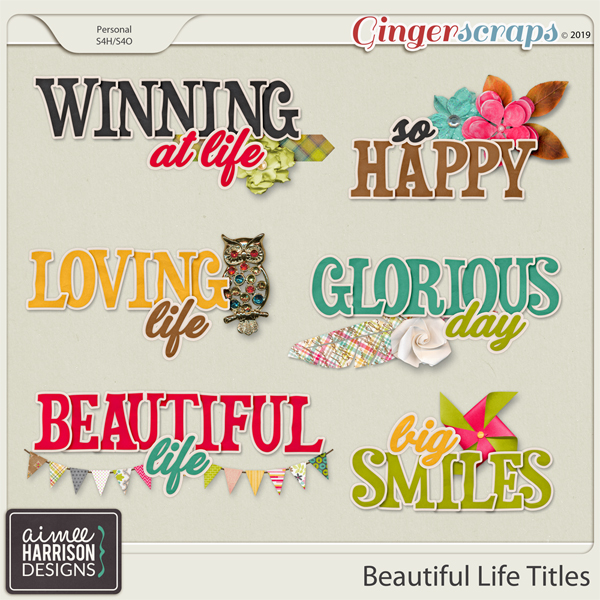 Beautiful Life Titles by Aimee Harrison
