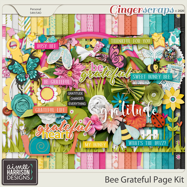 Bee Grateful Page Kit by Aimee Harrison