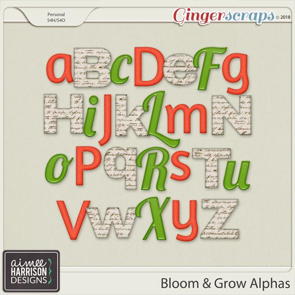 Bloom & Grow Alpha Sets by Aimee Harrison