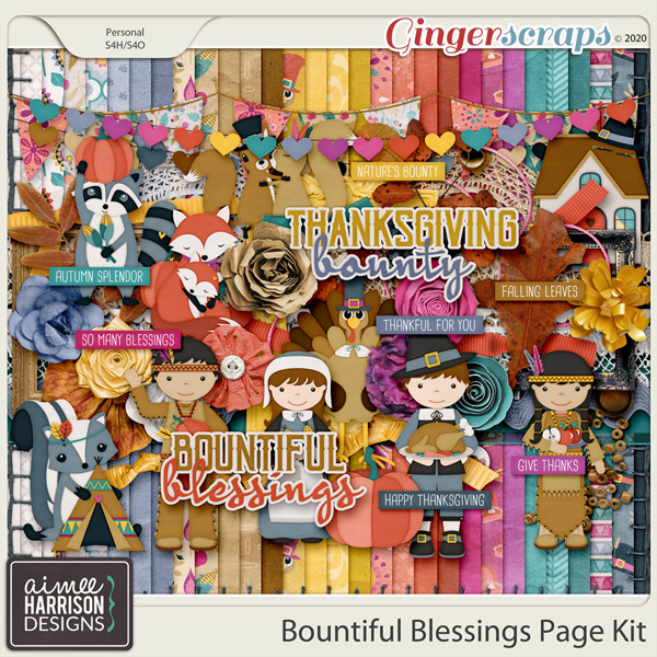 Bountiful Blessings Page Kit by Aimee Harrison