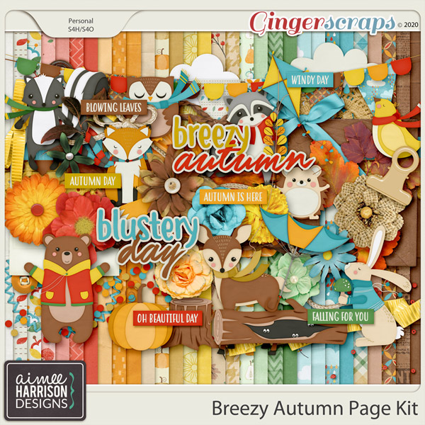 Breezy Autumn Page Kit by Aimee Harrison