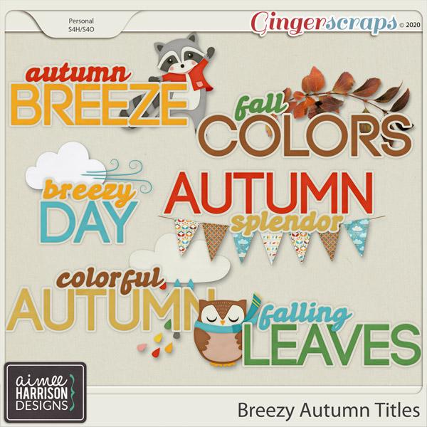 Breezy Autumn Titles by Aimee Harrison