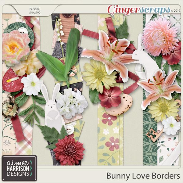 Bunny Love Borders by Aimee Harrison