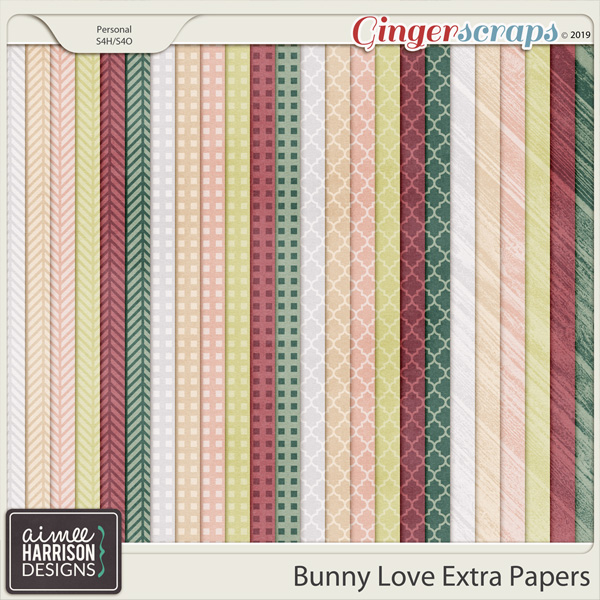Bunny Love Extra Papers by Aimee Harrison