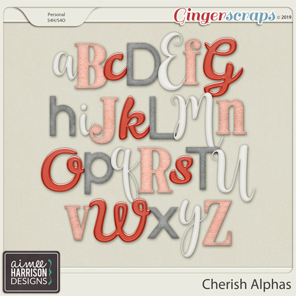 Cherish Alpha Sets by Aimee Harrison