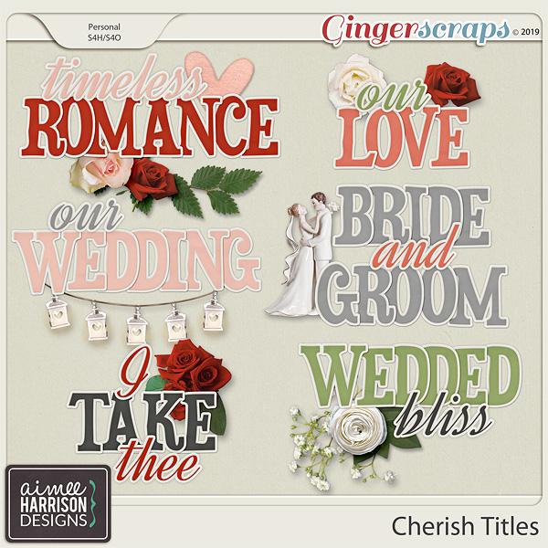 Cherish Titles by Aimee Harrison